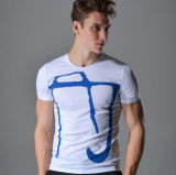 O 목 t-셔츠 대원 목 간결 소매 t-셔츠
