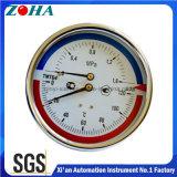 "100mm/4 ""直径の茎46mmの組合せの温度および圧力計"