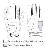 Weicher weißer Cabretta Golf-Handschuh