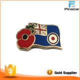 Fornitori Custom Metal Crafts Poppies e bandiera nazionale Imitation Enamel Badge Metal Commemorative Badge