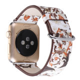 38mm Großhandelspreis-gute Qualitätskundenspezifische Farbanstrich-Kuh-Leder-Apple-Uhr-Riemen