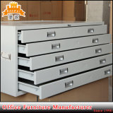 Gabinete de aço horizontal da planta do ficheiro do mapa do metal do tamanho A0/A1