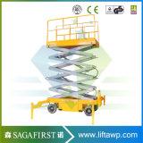 levage électrique mobile hydraulique de ciseaux de plate-forme de levage de 6m à de 20m