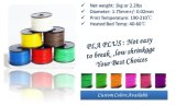 펜을 인쇄하는 1kg 1.75mm 필라멘트 3D를 위한 3D PLA 필라멘트