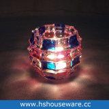 De Houders van Cndle van het Glas van de Vorm van de bal met Hand - gemaakte Kleuren