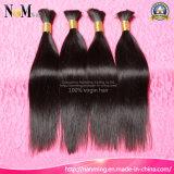 Venda por atacado no cabelo brasileiro / indiano / malaio / peruvian Virgin Bulk Hair Weft