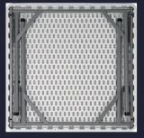 34X34pouce carré de pliage Table en plastique