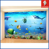 PVC 3D Adhesive Sea Fish Wall Decal Sticker di Custom della fabbrica