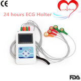 Cardioscape 3-Channel Color LCD Holter Monitor 24 horas de gravação-Stella