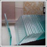 vidrio antideslizante endurecido claro de 12mm/15mm/19m m/vidrio antideslizante para las escaleras/suelo