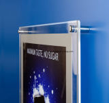 La publicité de la musique en acrylique Boîte à lumière avec la lumière