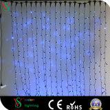 Farbe, die LED-Vorhang-Zeichenkette-Licht-Eiszapfen-Wand-Stadiums-Weihnachten ändert