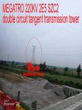 Doppia torretta della trasmissione di tangente del circuito di Megatro 220kv 2e5 Szc2