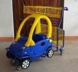 4人の車輪の鋼鉄クロムによって電流を通されるスーパーマーケットのショッピングトロリー965子供の漫画のトロリー