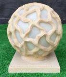 حجر رمليّ خارجيّ ينحت نحت حديقة كرة وسائل سمعيّة المتحدث [لد] مصباح فانوس