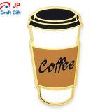 Personnaliser la tasse de café de l'épinglette de forme pour la vente
