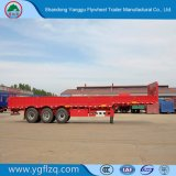 Remorque utilitaire 3 essieu en acier au carbone la paroi latérale en acier au carbone de l'ABS/plaque semi remorque de camion pour la vente