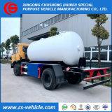 Dongfeng 8m3 - 10cbm LPGのガスタンクのトラック、LPGのガスの販売のための満ちるトラックLPGタンクトラック
