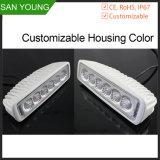 자동 소형 LED 일 표시등 막대 18W 12V 6대 인치 트럭 차량 자동차 점화