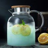 Insieme di vetro di vetro de grande capacità della brocca della brocca di acqua della caldaia di tè di Pyrex della famiglia