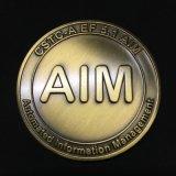 Messingherausforderungs-Münze