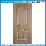 倍は木製のベニヤが付いているライン形成されたHDFのドアの皮を上げた