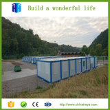 La casa prefabricada del refugiado del contenedor del panel de emparedado prefabricada
