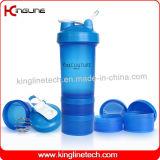 Bottiglia di plastica dell'agitatore del miscelatore con 2 contenitori