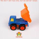 Juguetes Pocket del coche, deslizando los conjuntos del juguete de los carros de los vehículos para los niños del bebé durante 18 meses (fijar de 4: Niveladora, excavador, descargador, camión de extremidad)