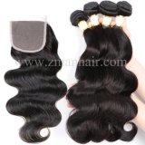 8A espessura do corpo completa extensão de cabelo humano da onda