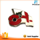 Hersteller Custom Metal Crafts Poppies und Staatsflagge Imitation Enamel Badge Metal Commemorative Badge