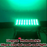 36X10W impermeable al aire libre ligero City Wallwasher LED Color