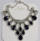 De Halsband van de Tegenhanger van het Kristal van dame Fashion Jewelry Red Waterdrop Glas (JE0211)