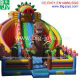 Glissière gonflable de dinosaur, château gonflable avec la glissière (DJWS017)