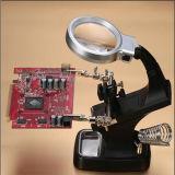 De multifunctionele Lampen van Magnifier van de Lezing van het Bureau met 2 LEIDENE Lichten/Lampen (egs-7026A)