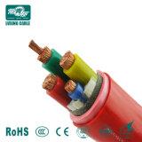 Cable eléctrico de la potencia de goma flexible del aislante de 3 bases