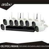 cámaras de seguridad sin hilos del CCTV de los kits del CCTV NVR del punto negro 8CH