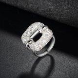 Joyería artificial creativa cristalina del anillo del acoplamiento de la manera