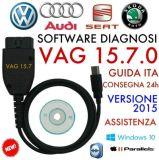 VAG COM 15.7.1 Mais novo 15.7.4 Cabo de diagnóstico Hex Can Cabo USB para VW Audi Skoda Seat Francês Inglês Alemanha 15.7.0