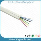6 cabos de telefone redondos dos núcleos