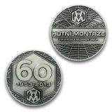 Supporto personalizzato Keychain della moneta della moneta di calcio del rame dell'oggetto d'antiquariato di promozione
