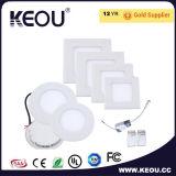 涼しい白6000kの円形か正方形LEDのパネル18W 8inch Downlight