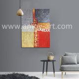 Arte astratta della tela di canapa di alta qualità che vernicia effetto strutturale pesante per la decorazione domestica