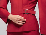 Mesdames manche longue jupe rouge vif Anti-Wrinkle Airlines uniforme