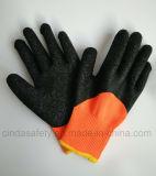 Перчатки защитной безопасности работы Crinkle латекса петли Терри работая