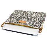 Leopard Imprimir Zipper Notebook em neoprene luva (NLS010)