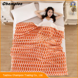 高品質の極度の柔らかく、固体フランネル毛布多機能