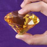 Diamant en cristal de 60 mm pour souvenir publicitaire peut gravir le logo