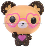 Kawaii lunettes Squishies Cute Bear Décoration parfumée Squishy pu ralentir la hausse des jouets pour enfants