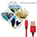 Nylonumsponnenes für iPhone Blitz-Kabel USB-Netzkabel-aufladenkabel